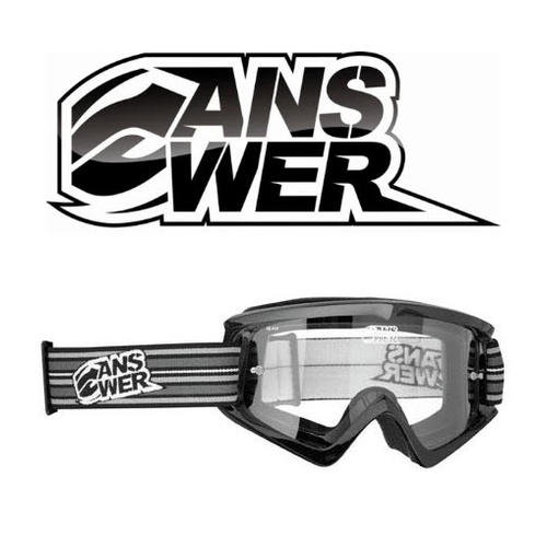 ANSWER MOTOCROSS MX GOGGLES A10 ADULT EQUALISER BLACK