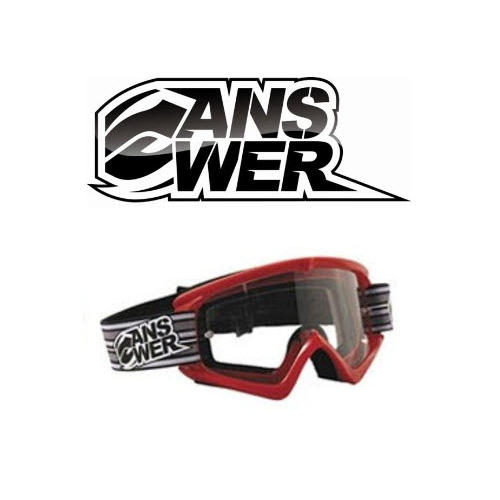 ANSWER MOTOCROSS MX GOGGLES A10 ADULT EQUALISER RED