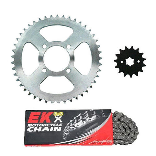 HONDA CT110 POSTIE HEAVY DUTY EK CHAIN & SPROCKET KIT - CT 110 X 1999 - 2013