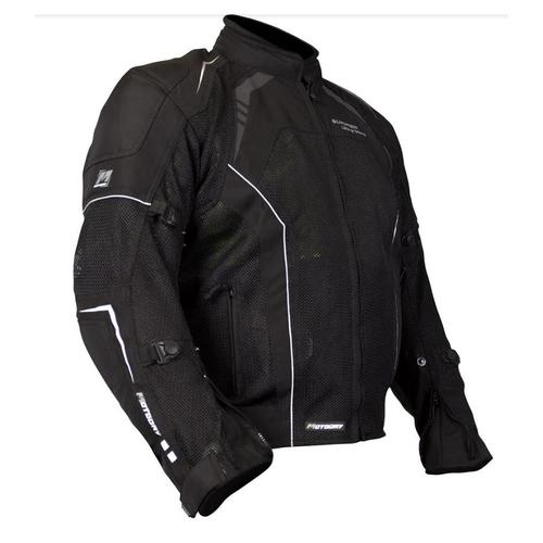 MOTODRY BLACK SUMMER ULTRA VENT MOTORCYCLE PROTECTIVE JACKET