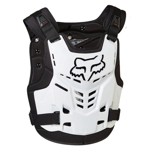 FOX PROFRAME LC ADULT MOTOCROSS MX BODY ARMOUR CHEST PROTECTOR WHITE