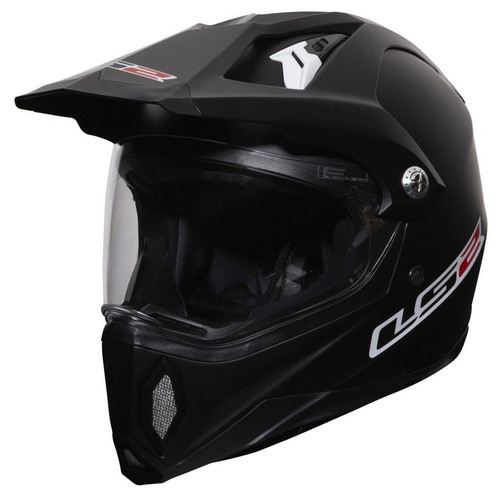 LS2 DUAL PURPOSE MOTORCYCLE HELMET DAKAR ADVENTURE MX453 SMALL - MATTE BLACK