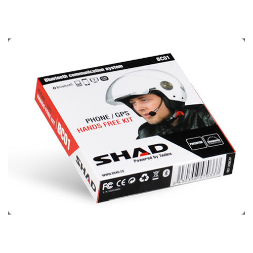 SHAD HANDS-FREE BLUETOOTH MOTORCYCLE INTERCOM COMMUNICATIONS SYSTEM BC01