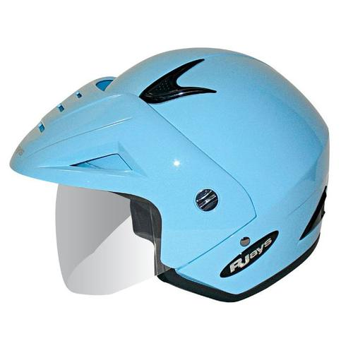 R-JAYS URBAN MOTORCYCLE SCOOTER OPEN FACE HELMET CAFE RACER - POWDER BLUE