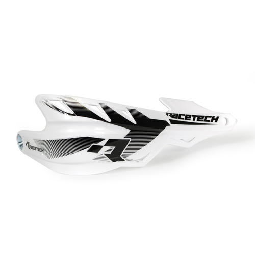 KAWASAKI KLX400 RACETECH ENDURO HANDGUARDS RAPTOR HAND GUARDS - WHITE KLX 400