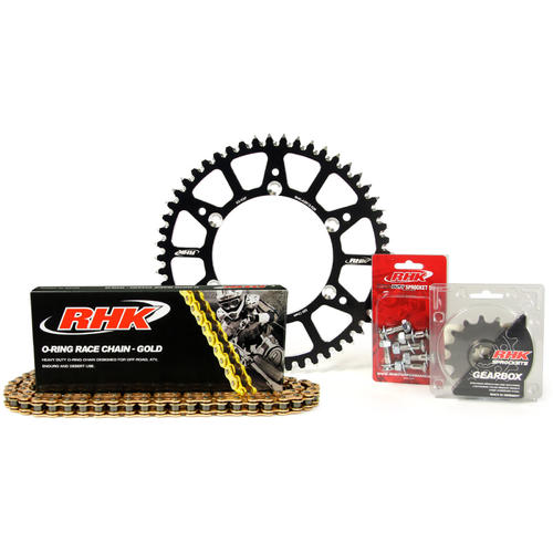 KAWASAKI KX450F 2006 - 2015 15T/49T RHK O-RING CHAIN & BLACK ALLOY SPROCKET KIT