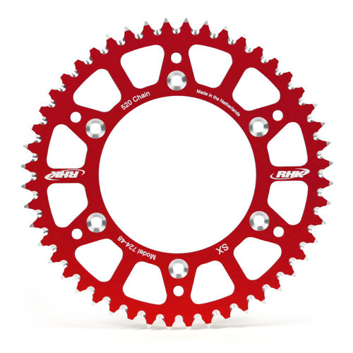 48T RHK ALLOY REAR SPROCKET RED