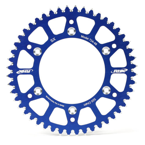 YAMAHA YZ125 1999 - 2015 49T RHK ALLOY REAR SPROCKET BLUE YZ 125