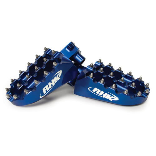 HONDA CR125 - RHK PURSUIT ALLOY FOOTPEGS - CR 125 2002 - 2015 FOOT PEGS BLUE