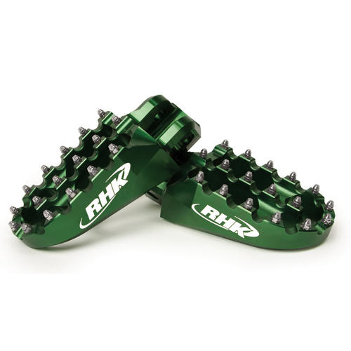 KAWASAKI KLX450 - RHK PURSUIT ALLOY FOOTPEGS - KLX 450 2007 - 2015 GREEN