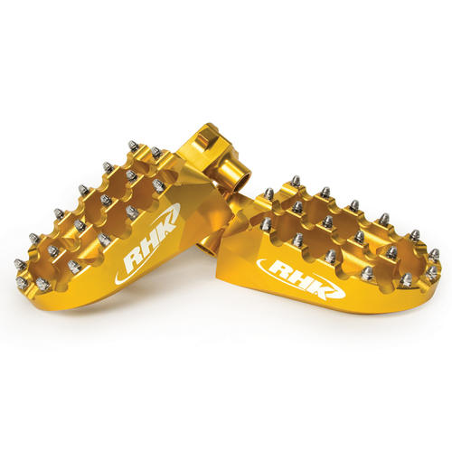 SUZUKI RMZ450 - RHK PURSUIT ALLOY FOOTPEGS -  RMZ 450 2010, 2012 - 2015 GOLD