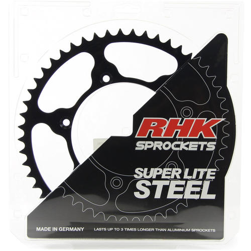 KAWASAKI KX250 1980 - 2008 49T RHK STEEL REAR SPROCKET BLACK KX 250