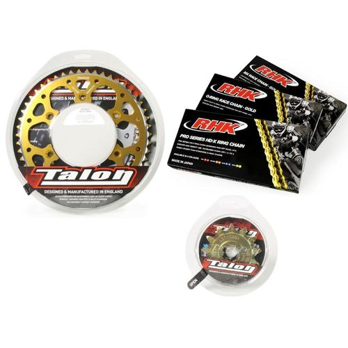 KAWASAKI KX65 1999 - 2017 13T/44T TALON GOLD MX CHAIN AND SPROCKET KIT KX 65