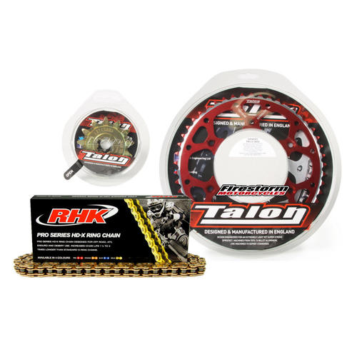 13T/47T TALON RHK X-RING CHAIN & RED SPROCKET KIT