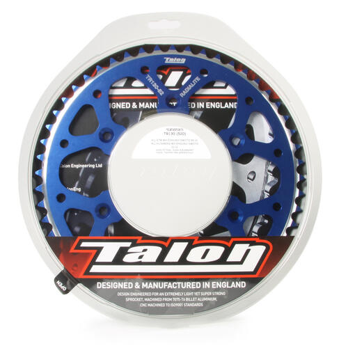 KAWASAKI KX125 1980 - 2008 49T TALON ALLOY REAR SPROCKET BLUE KX 125