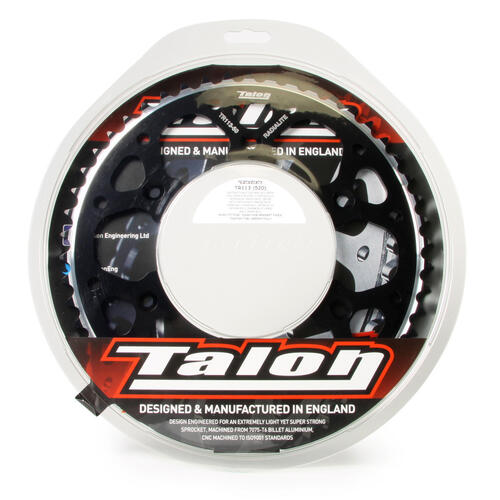 49T TALON ALLOY REAR SPROCKET BLACK