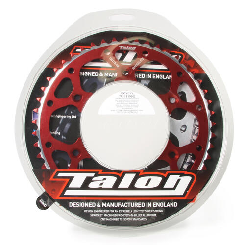 49T TALON ALLOY REAR SPROCKET RED