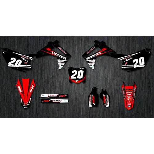 CUSTOM HONDA TEAM GRAPHICS KIT WITH NUMBER PLATE BACKGROUNDS