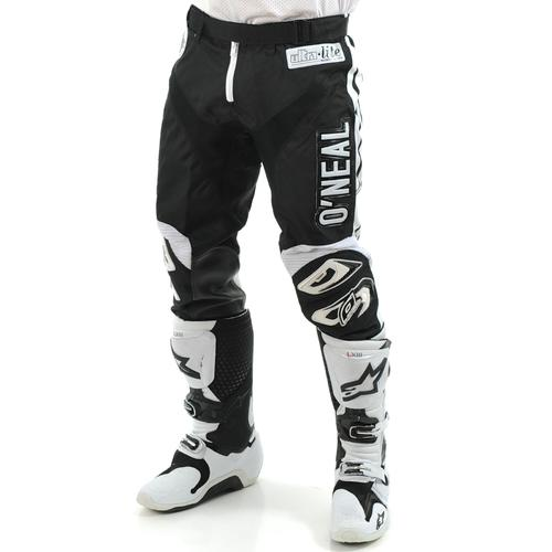 ONEAL  ULTRA LITE LE 70 MOTOCROSS MX PANTS BLACK/WHITE YOUTH 28 (16/18T)