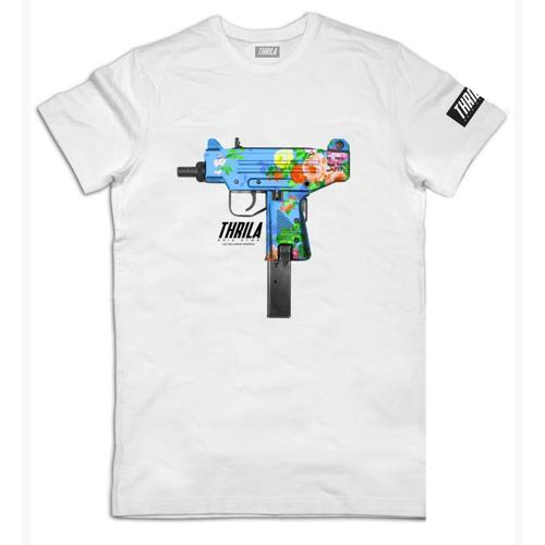 THRILA UZI TEE T-SHIRT WHITE