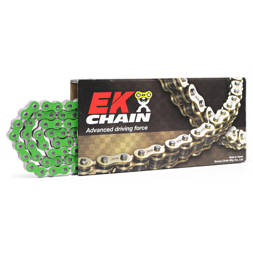 HUSQVARNA TE449 2011 - 2013 EK 520 RXO SX'RING HEAVY DUTY NARROW RACE CHAIN 120L - METALLIC GREEN