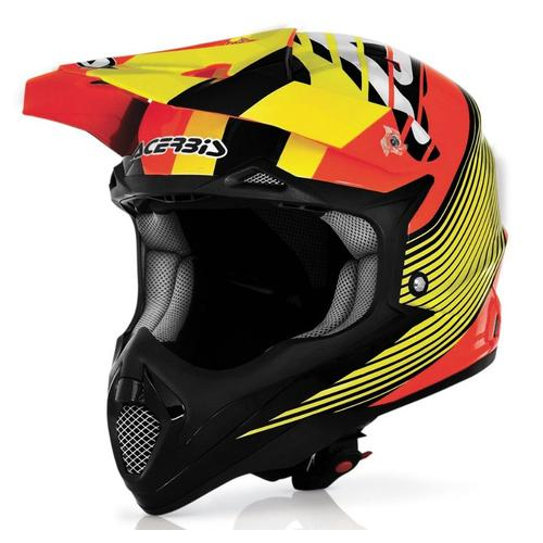 ACERBIS IMPACT MOTORCYCLE BOMBSHELL HELMET ENDURO MOTOCROSS - ORANGE