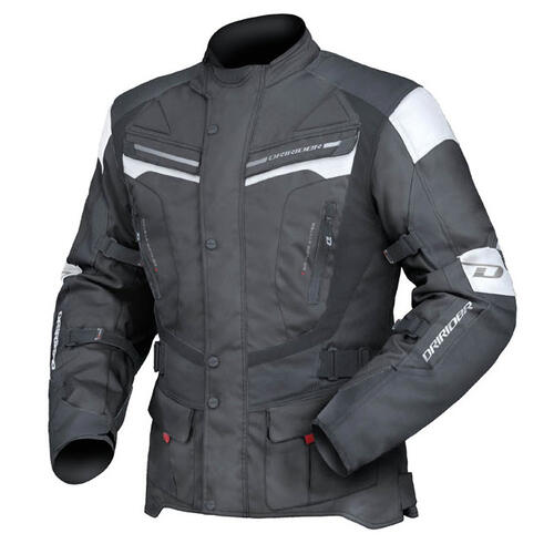 DRIRIDER APEX 4 BLACK/WHITE ADVENTURE MOTORCYCLE JACKET