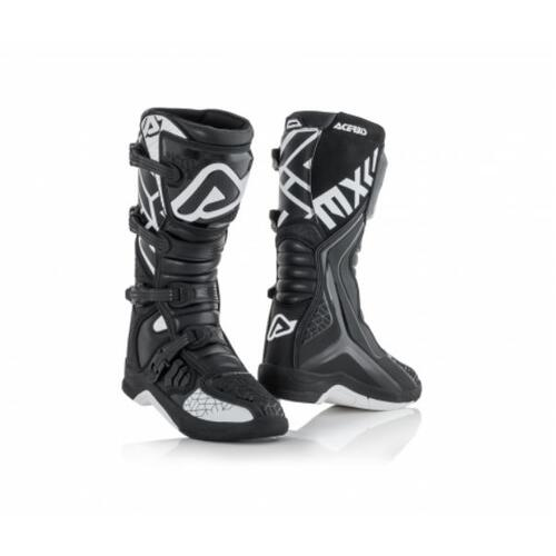 ACERBIS X-TEAM MX MOTOCROSS BOOT BLACK/WHITE