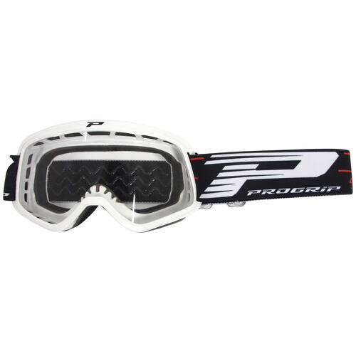 PROGRIP 3101 WHITE KIDS GOGGLES WITH CLEAR LENS