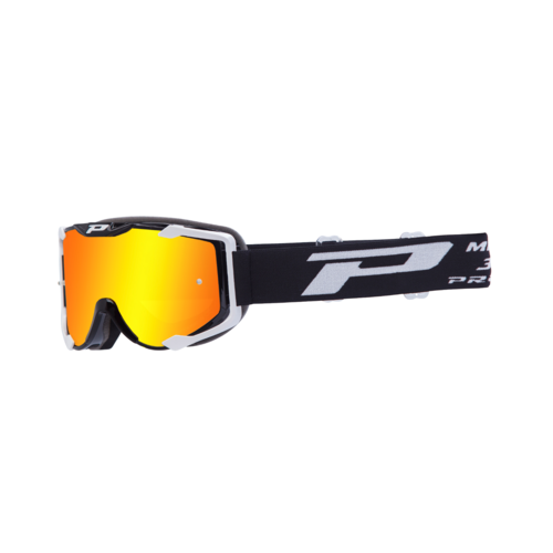 PROGRIP MENACE 3404 MX MOTOCROSS GOGGLES BLACK WHITE
