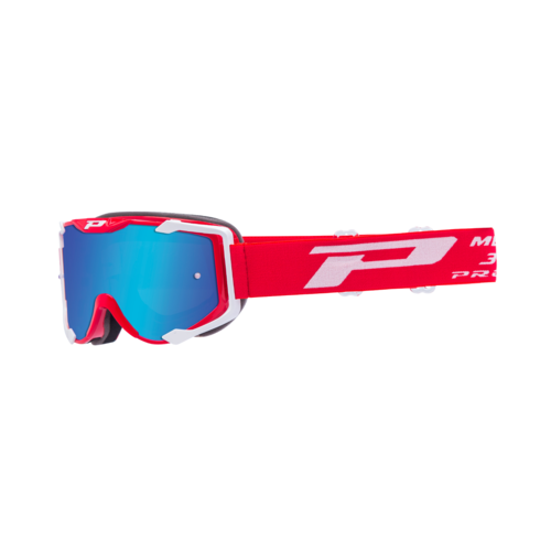 PROGRIP MENACE 3404 MX MOTOCROSS GOGGLES WHITE RED