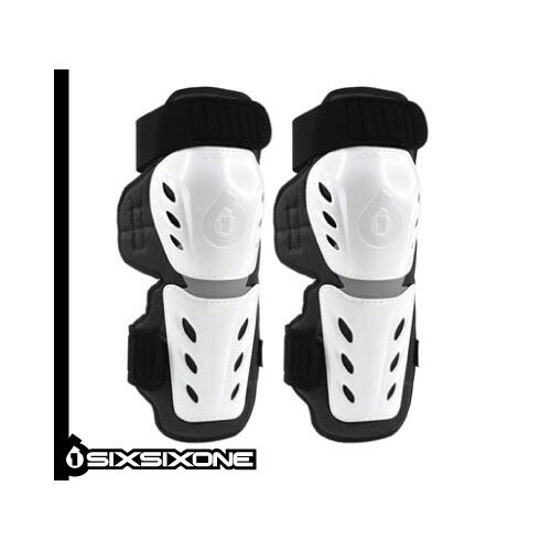 SIX SIX ONE MOTOCROSS MX YOUTH KNEE/SHIN GUARD WHITE