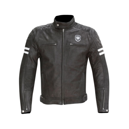 MERLIN MOTORCYCLE JACKET HIXON LEATHER JACKET WITH CE ARMOUR MATT BLACK