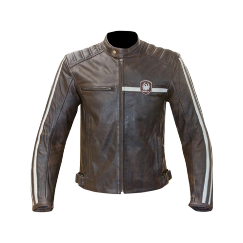 MERLIN MOTORCYCLE JACKET DERRINGTON LEATHER JACKET WITH CE ARMOUR BROWN