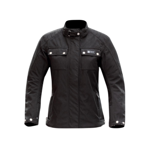 MERLIN MOTORCYCLE JACKET LADIES ELLIPSE WATERPROOF JACKET WITH REISSA WP LINER AND CE ARMOUR BLACK