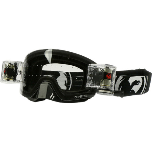 DRAGON MX MOTOCROSS GOGGLES NFXS COAL WITH ROLL OFF - CLEAR LENS