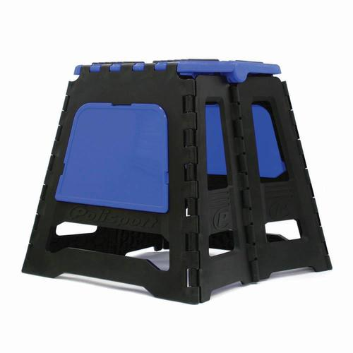 POLISPORT FOLDING MOTORCYCLE DIRT BIKE RACE STAND - BLUE