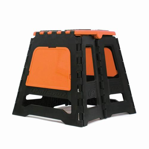POLISPORT FOLDING MOTORCYCLE DIRT BIKE RACE STAND - ORANGE