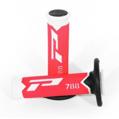PROGRIP 788 LE FLURO RED TRIPLE DENSITY MOTOCROSS GRIPS