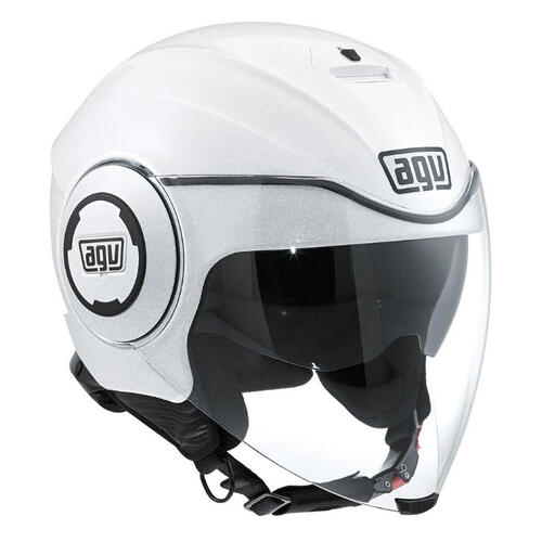 AGV FLUID ROAD MOTORCYCLE OPEN FACE HELMET PEARL WHITE