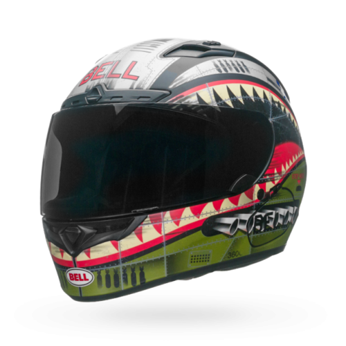 BELL QUALIFIER DLX DEVIL MAY CARE MATTE ROAD HELMET