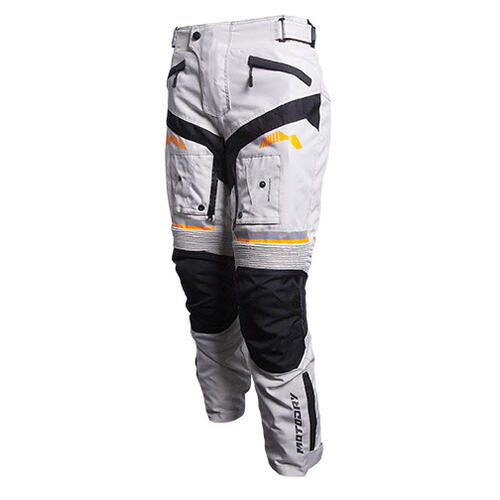 MOTODRY RALLYE ALL YEAR ADVENTURE MOTORCYCLE PANT GRAY/BLACK/ORANGE