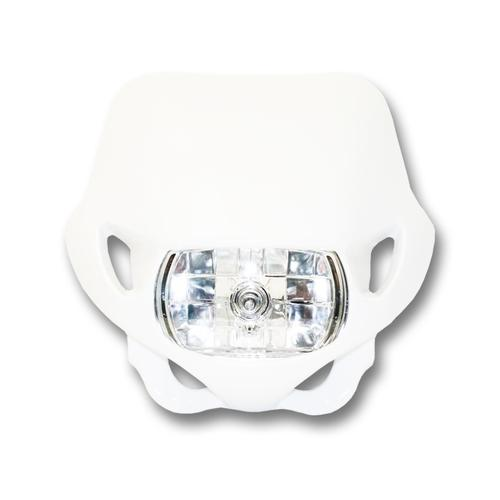 UNIVERSAL ENDURO MOTORCYCLE HEADLIGHT WHITE