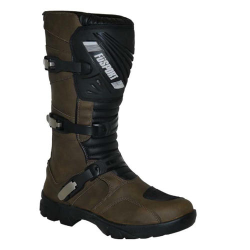 FUSPORT SIMPSON BROWN OFFROAD ADVENTURE MX MOTORCYCLE BOOTS