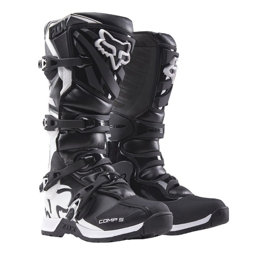 FOX 2018 RACING COMP 5 MOTOCROSS MX BOOTS BLACK WHITE