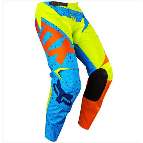 FOX 2017 180 NIRV YELLOW/BLUE KIDS MOTOCROSS MX PANTS