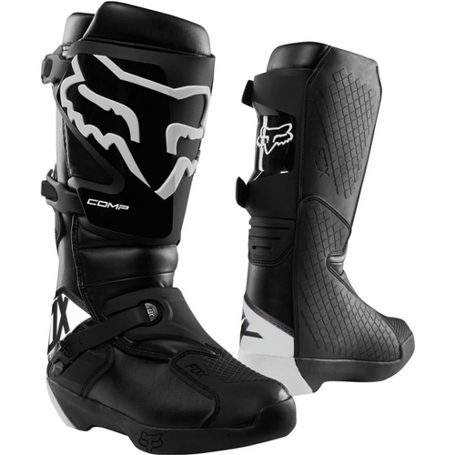 FOX 2020 COMP MOTOCROSS MX BOOT BLACK/WHITE