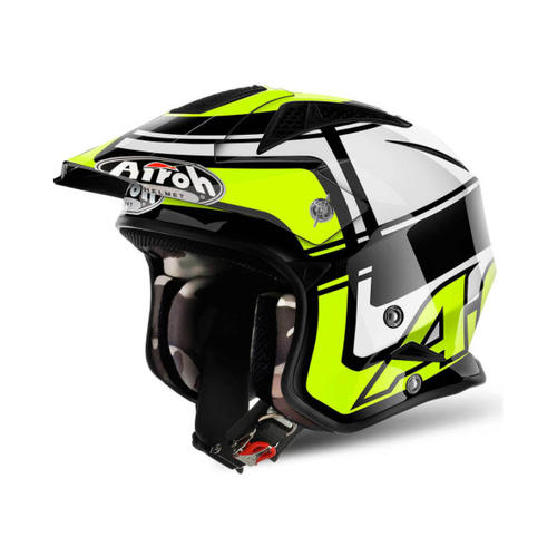 AIROH TRR-S WINTAGE YELLOW TRIALS HELMET
