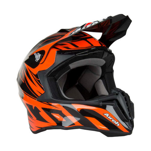 AIROH TWIST EVIL ORANGE BLACK MX MOTOCROSS HELMET
