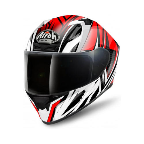 AIROH VALOR CONQUER RED GLOSS MOTORCYCLE ROAD HELMET